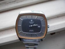 vintage automatic TISSOT tv face watch with quick date setting feature