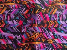 WtW Fabric Geometric  Abstract Mod Retro Pattern Kaufman Blender BTY Quilt
