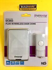 WIRELESS porta Gong bianco plug-in irrintracciabile Knightsbridge DC003