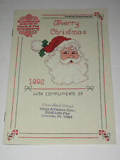 Merry Christmas 1992 Cross Stitch Patterns Designs by Gloria & Pat Booklet NEW