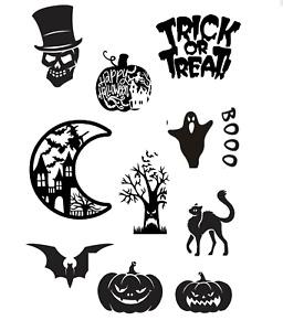 halloween scary pumpkin bats cat trick treat ghost hocus pocus sticker window