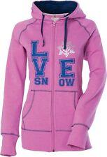NOS DIVA SNOW GEAR 462-1331XS LOVE SNOW ZIP HOODY PINK SIZE WOMENS XS