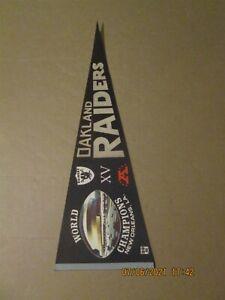NFL Oakland Raiders Vintage Super Bowl XV World Champions Team Logo Pennant
