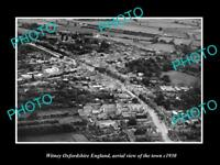 OLD LARGE HISTORIC PHOTO OF WITNEY OXFORDSHIRE ENGLAND, VIEW OF THE TOWN c1930 3