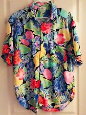 VTG 90's GUESS Georges Marciano Multi Color Hawaiian Button Up Shirt Large (W1)