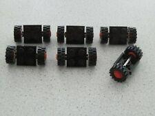 Lego 122c01assy2 # 6x Achse Achsen 2x2 Schwarz / rot 590 7824 6392