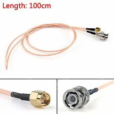100cm Cable BNC Male Plug To SMA Male Straight Crimp RG316 3ft Jumper Pigtail