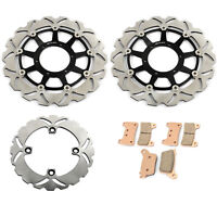 For Honda CBR 1000 RR Fireblade 2006 2007 Front Rear Brake Discs Rotors Pads Set