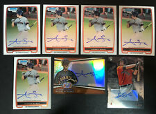(7) Andrew Susac 2012 Bowman Chrome Platinum 2014 Sterling RC Auto Lot Refractor