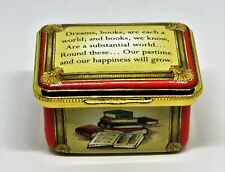 """Halcyon Days Enamel Box ~ William Wordsworth Sonnet ~ Books ~ Poetry ~ """"As Is"""""""