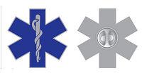Star of Life Lapel Pin Badge Medical Symbol Brooch Caduceus Ambulance Paramedic