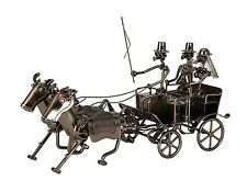 Moderno carromato de boda Escultura De Metal altura 19cm de largo 36cm