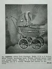 1936 Doll Carriage pram stroller toy ad + Ducky Snoozie dolls advertisement