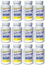 12 IVORY CAPS glutathione skin whitening 1500mg vegan exp 1/2021