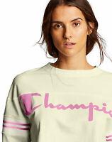 Champion Life Women's Tee T-Shirt Heavy Jersey Exaggerated Sleeve Script Logo