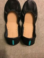 Tieks Matte Black Leather Flats, Size 9 New