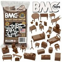 BMC Classic Marx Western Town Furniture - 42 pc. Plastic Cowboy Playset