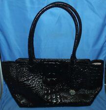 Nice Brahmin Ashby Tote EUC Black Melbourne Leather Satchel Purse Shoulder Bag