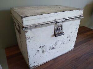 Vintage Kreamer Bread Box Tin Hinged w Latch Antique Farmhouse