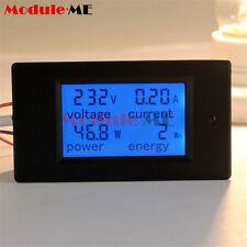 20A AC Digital LCD Panel Power Meter Monitor Power Energy Ammeter Voltmeter