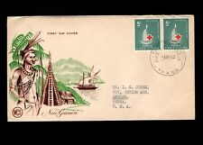Papua & New Guinea Port Moresby 1st Day 1963 Red Cross Pair 5d Cover 5l