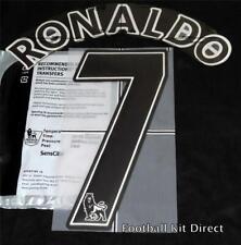 Manchester United Ronaldo 7 Premier League Football  Name Set Lextra Black