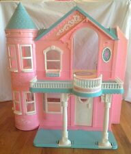 Vintage Pink  Barbie Doll Dream House Victorian Mansion Dollhouse Elevator RARE