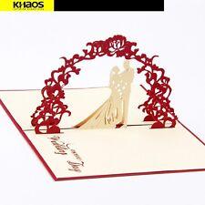 3D Rose Wedding Pop Up Card. Love Anniversary  Valentine's Day Card