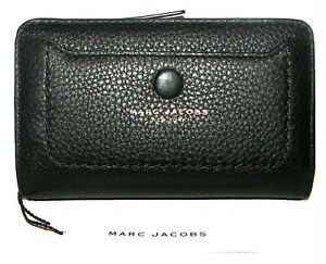 MARC JACOBS Black Leather Bifold Small Wallet NWT