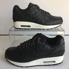 W Nike Air Max 1 Premium Leather  ID Black/White Wmns.Sz.7 (918621-992)