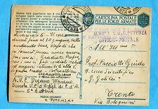 UFFICIO POSTALE SCUOLA A.U.C. POTENZA stamp. + guller POTENZA del 2/43.  (13195)