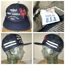 VTG YANKEE LIKE SADDLE CHAP ASS 70s 80s USA Side Stripes Trucker Hat Cap Snapbk