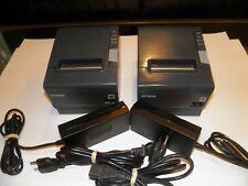 Lot of 2 Epson TM-T88V Thermal POS Receipt Printer  M244A W/ Serial / USB w AC