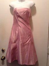 Scott McClintock Pink Strapless Cocktail Evening Dress Size 6