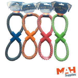 Figure of 8 Dog Rope Tug Toy Fun Exercise For Your Dog Extra Strong Pull Toy