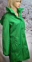 Dennis by Dennis Basso Green Large 100% Polyester Women's Rain Coat NWOT