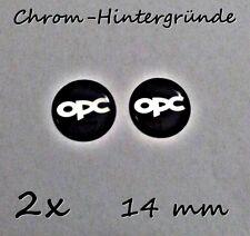 2x OPC Line Opel 3D Aufkleber-Set für Schlüssel, Handy, Tablet... Schwarz 14mm