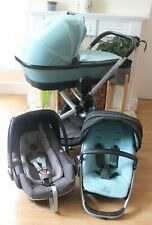 LOVELY QUINNY BUZZ XTRA PRAM TRAVEL SYSTEM 3 IN 1 MAXI COSI PEBBLE PLUS CAR SEAT