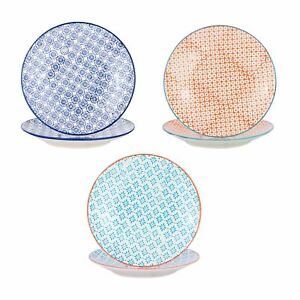 Patterned Dessert Side Wedding Porcelain Kitchen Plates - 3 Designs - 180mm x6