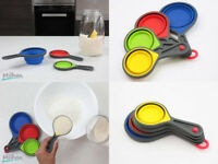 Silicone Measuring Cup Spoons Collapsible Kitchen Baking Cooking