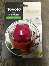 Tovolo Pig Tea Infuser Filter Perforated Pink Silicone 81-8168 NIP