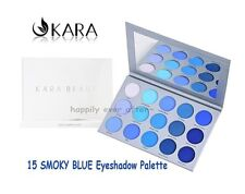 KARA 15 SMOKY BLUE Eyeshadow Palette- Highly Pigmented 15 Blue Shades ES22