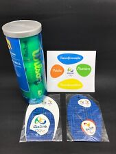 Rio 2016 Olympics Kit with 3 Tennis Balls + Rio 2016 Keychain and Magnet New