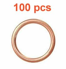 (100) Marli 20 mm Crushable Copper Oil Drain Plug Gaskets M20 Fits Chevy Subaru