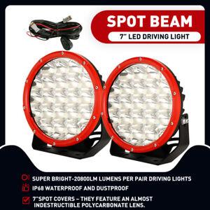 7 Inch Round LED Driving Lights Offroad Spot 4x4 SpotLights Lamp OSRAM Black SUV
