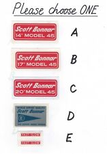 Scott Bonnar Vintage Mower Small Repro Decals