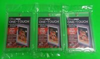 3 QTY Ultra Pro One Touch Magnetic Card Holder (Fits up to 35pt Baseball Cards)