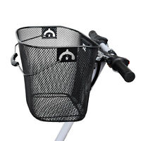 Bike/Bicycle/Cycle Metal Mesh Basket & Quick Release Bracket Shopping Handle New