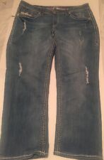 MAURICES Stretch Skinny Leg Thick Stitch Jeans  Juniors 7/8 Crop cute