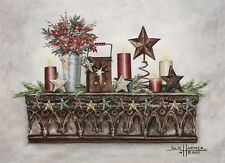 """Holiday Stars"" Greeting Cards-pack of 10 & envelopes, by artist, Julie Hammer"